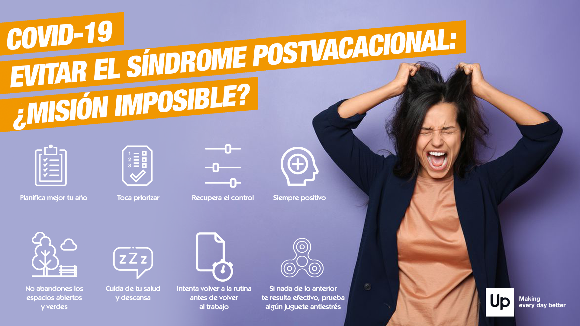 infografia sindrome postvacacional